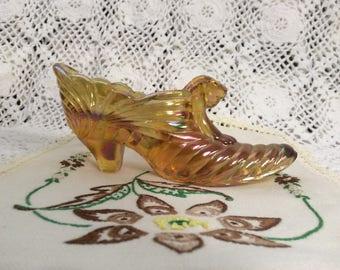 Fenton Marigold Carnival Melon Shoe/Slipper E-13