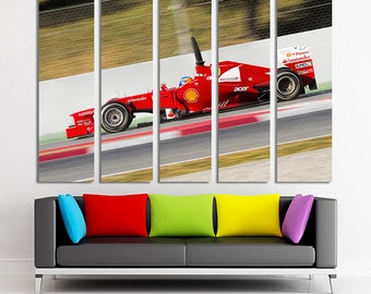 Ferrari F1 Formula canvas Formula photo Formula print Formula poster Formula wall art Ferrari canvas Ferrari wall art Ferrari decor Canvas