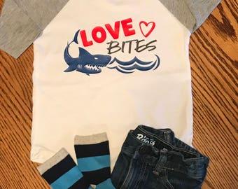 Little boys Love Bites Valentine Shirt