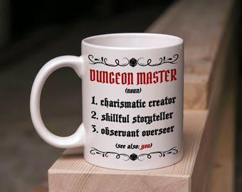D&D Mug Gift - Good Dungeon Master Definition - 11 Ounce Coffee Tea Mug Perfect for DM Game Master DnD Present