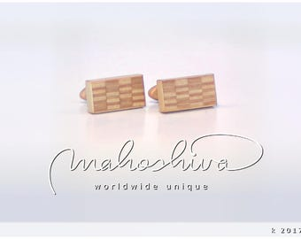 wooden cuff links wood alder maple handmade unique exclusive limited jewelry - mahoshiva k 2017-43