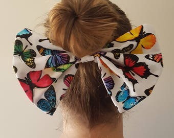 Large Hair Bow Clip - Butterfly