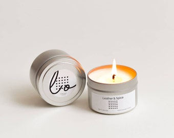 Leather & Spice Soy Candle