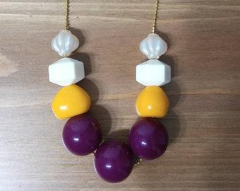 Plastic raspberry necklace:שרשרת פטל
