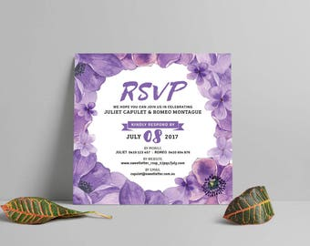 Violet forest: Save the date card set