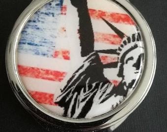 "Pocket mirror ""America"""