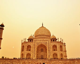 Indian Photography, The Taj Mahal, Travel Photography, Golden Hour, Sunset, India, World Wonder