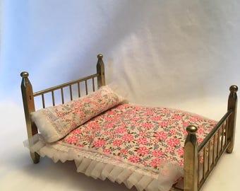 Vintage Miniature Brass Bed