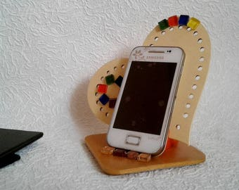 Charming iPad stand for desk Holder small heart Smartphone iPhone iPad holder Lovely office decor Unusual gift for colleague friend