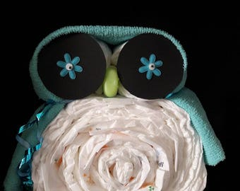 Diaper gift Baby//owl//baby//diaper cake//Christening Gift