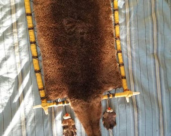 Alaskan River Otter Fur Spirit Hoop