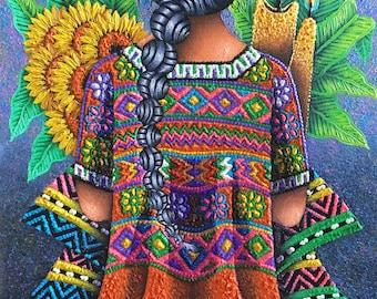 Guatemalan Oil Painting - Todos Santos