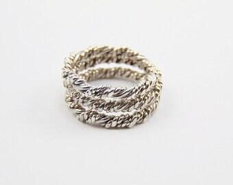 10 gauge -Stacking Ring Sterling Silver