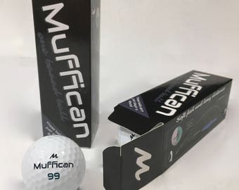 Sleeve of Muffican Golf Balls