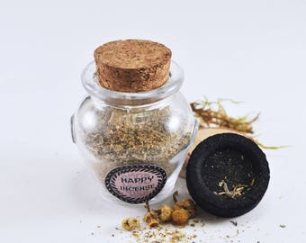 Happy Incense - All natural hand blended loose incense - Promotes and attracts Happiness - Reduces Negativity - Magic  - modern wicca