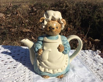 adorable bear Otagiri teapot