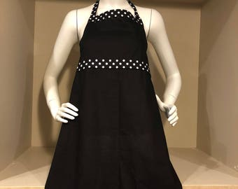 Black and Polka Dot Apron