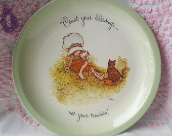 Vintage 1973, Holly Hobbie Collector Plate, 'Count your Blessings...'