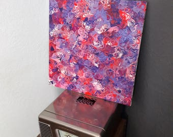 Pink and purple acrylic painting, one of a kind abstract painting for home or office, stretched canvas, original art, medium painting