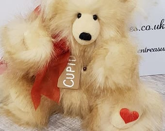 Cupid Faux Mohair Hidden Treasures Bear