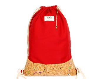 Ochos   Cherry-Red Cork Sack Bag
