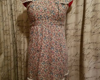 Vintage 1980's Floral Boho Hippie Prairie Style Dress