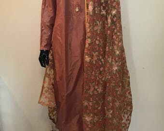 Indian Silk Salwar suit with embroidered dupatta