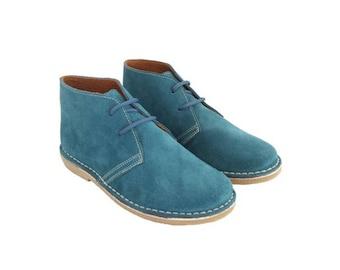 Desert PETROL suede boots