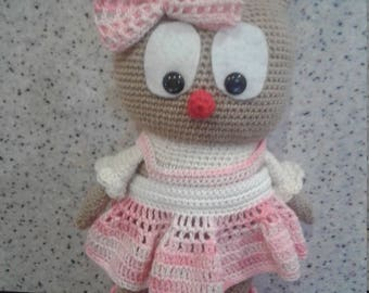 soft knitted toy Owl gift for girl