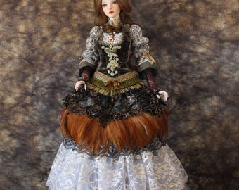 BJD CLOTHING SD Female Baroque set Limited edition clothes Unique Outfit SiD long dress Romantic Costume