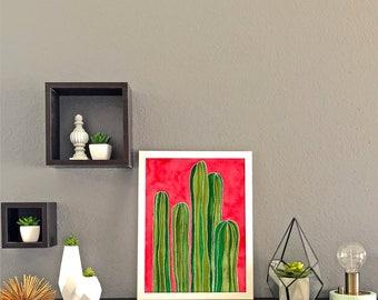 Pipe Cactus Print