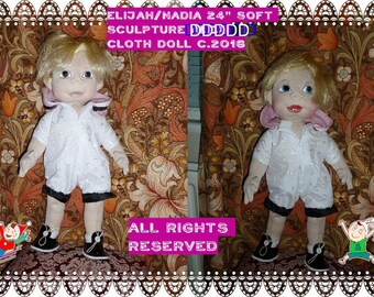 """The together they stand soft sculpture doll sewing pattern 24"""" Tall"""