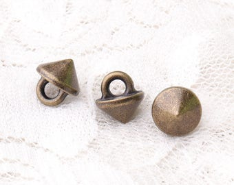subuliform buttons 9*9.5mm 10pcs tiny metal zinc alloy buttons shank buttons bronze buttons