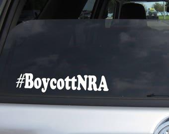Boycott NRA window Sticker Decal