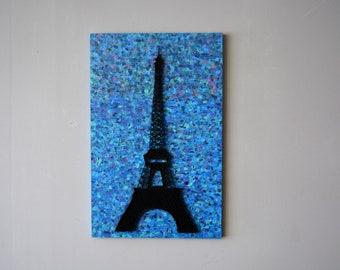 Eiffel Tower Art Black Eiffel Tower Decor Paris Artwork Eiffel Tower Gifts Eiffel Painting Eiffel Tower Artwork Eiffel Wall Art Parisian Art