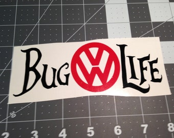 VW 2 color decal Bug Life