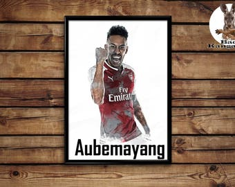 Aubemayang print wall art home decor poster