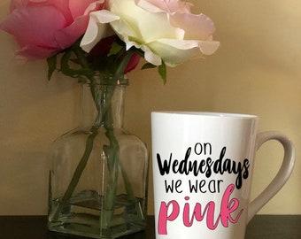 pink wednesday 14oz. mug