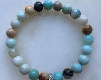 Woman's Amazonite Gemstone Bracelet