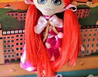 Handmade doll RED - Textile Doll - Tilda style doll - Interior doll - Poupée en tissu - Poupée création - Poupée d'intérieur