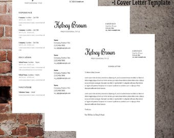 Classic Resume Template | Professional CV/Resume Template | Cover Letter Template | References Template | Creative Template | Traditional