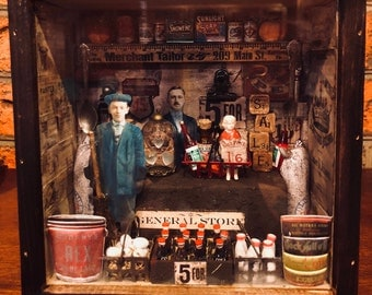 A Vintage General Store ShadowBox