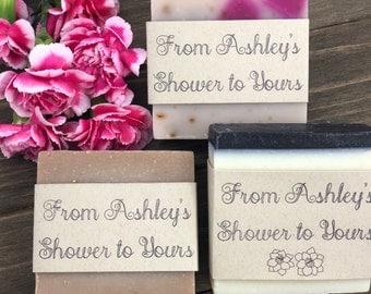 48 - All Natural Soap Bridal Shower Favors