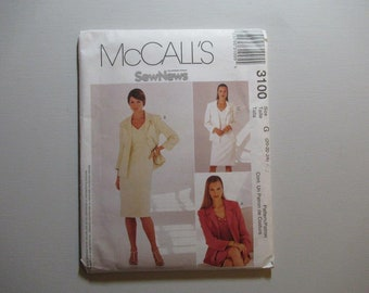 McCall's 3100 Misses' /Miss Petite Dress and Lined Jacket Pattern