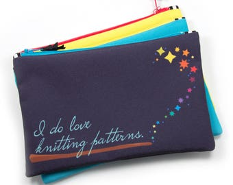 Zipper Bag, Knitting Notions Bag, Harry Potter Dumbledore Quote