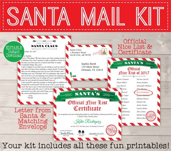 Personalized santa letter template letter from santa printable il570xn spiritdancerdesigns Gallery
