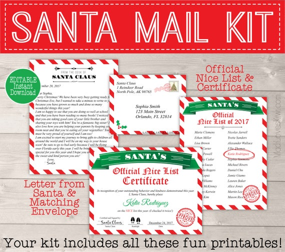 Personalized santa letter template letter from santa printable il570xn spiritdancerdesigns Images