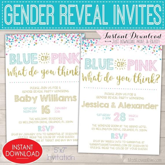 blue pink onesie gender reveal invitation il 570xn gender reveal