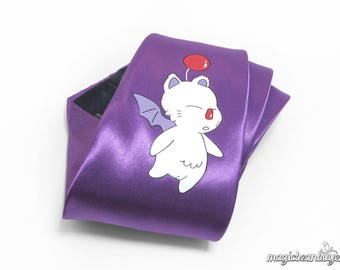 Hand-Painted Final Fantasy Moogle Necktie