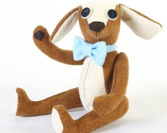 dog teddy bear - heartfelt dog - teddy bear - brown